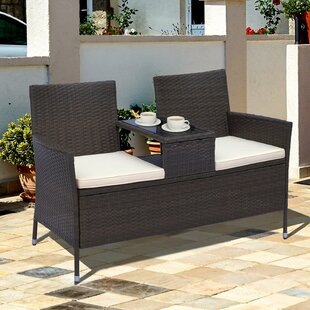 Vandervoort 2 Piece Rattan Seating Group with Cushions