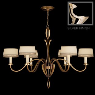 Staccato 6-Light Shaded Chandelier by Fine Art Lamps