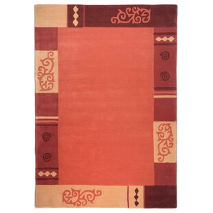 Ambadi Hand Tufted Wool Terracotta Rug by Theko