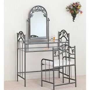 Fleur De Lis Living Corum Vanity Set with Mirror