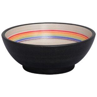 Read Reviews Fango Ceramic Circular Vessel Bathroom Sink By Barclay