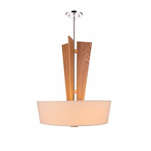 Woodbridge Lighting Angle 3-Light Drum Ch..