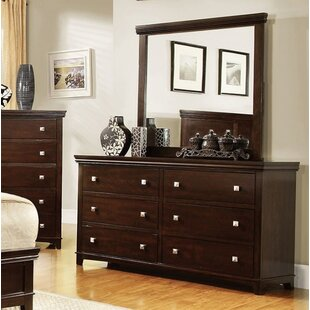 Crissyfield 6 Drawer Double Dresser with Mirror by Latitude Run