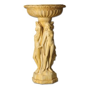 OrlandiStatuary Three Muse Birdbath