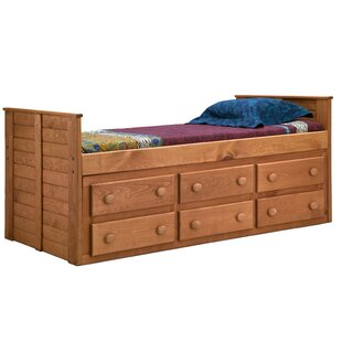 Chea Twin Mate's & Captain's Bed with Storage by Harriet Bee