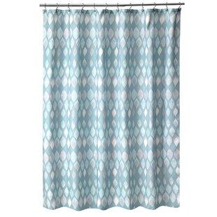 Reviews Shell Rummel Sea Glass Shower Curtain ByPopular Bath