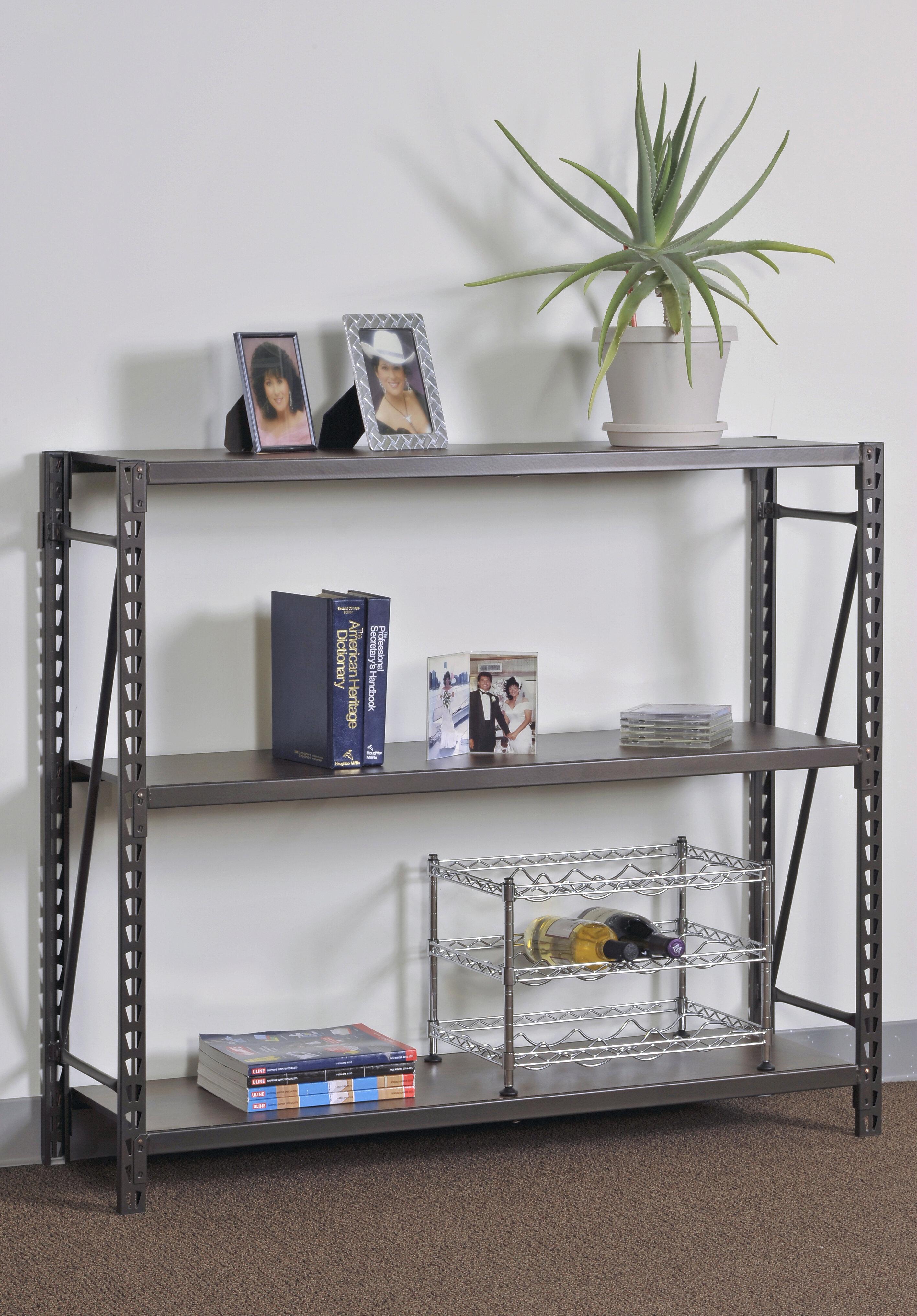 Sandusky 42 h x 48 w 3 shelves steel commercial decorative shelving unit wayfair