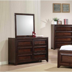 Harriet Bee Tool 4 Drawer Dresser with Mirror