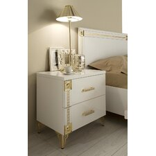 Alpha 2 Drawer Nightstand by Everly Quinn