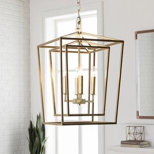 House of Hampton Susanna Transitional 4-Light Lantern Chandelier