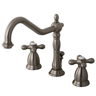 Great choice Heritage Widespread Bathroom Faucet with Double Metal Cross Handles By Elements of Design