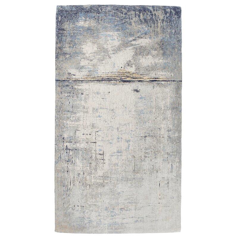 Kare Design Abstract Flatweave Blue Rug