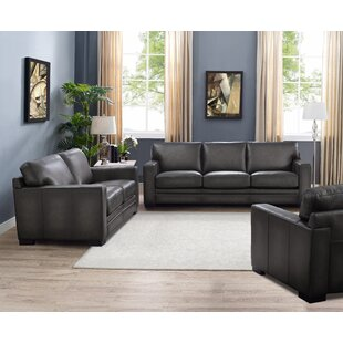Order Drakeford 3 Piece Leather Living Room Set by Brayden Studio Reviews (2019) & Buyer's Guide