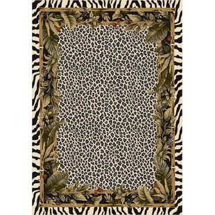 Judah Jungle Safari Snow Leopard Area Rug
