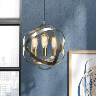 Brayden Studio Ryann 3-Light Globe Chandelier
