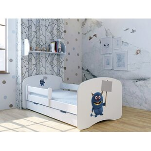 Blue Monster With Sign Bed With Mattress And Drawer By Zoomie Kids