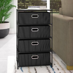 Bohnsack 4 Drawer Storage Unit End Table by Ebern Designs
