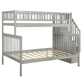 Arias Stairway Twin Over Full Bunk Bed with Trundle by Isabelle amp Max