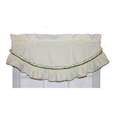 Hower 43 Country Ruffled Filler Valance August Grove Color: Sage, Rod Pocket Size: 1.5