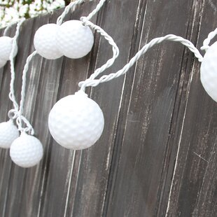 10-Light 7.5 ft. Golf Ball String Lights By DEI Outdoor Lighting