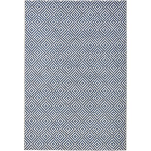 Meadow Woven Blue Rug by bougari