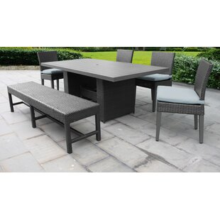 Meier Outdoor 6 Piece Dining Set with Cushions