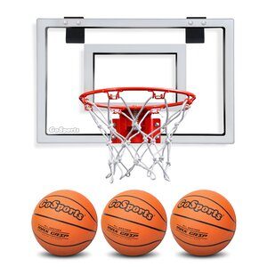 Basketball Door Hoop with 3 Premium Basketball and Pump