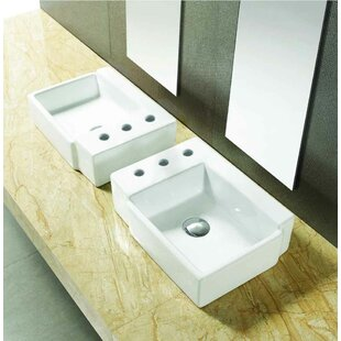 Compare & Buy Ceramic Rectangular Bathroom Sink with Faucet By American Imaginations