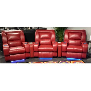 Roxie Leather Home Theater Row Seating by Southern Motion