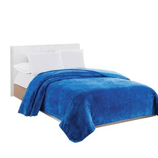 Blue Fuzzy Blanket Wayfair