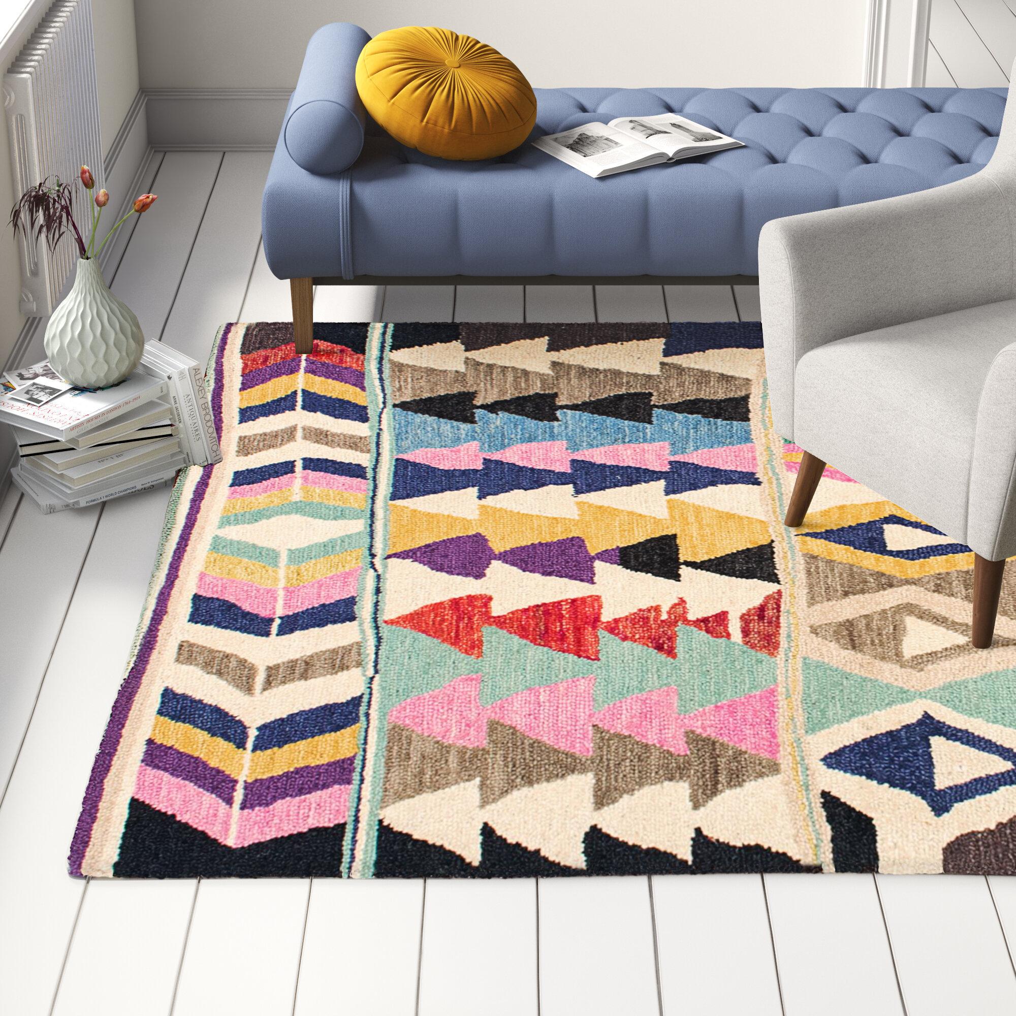 Baxley Tufted Wool Purple Area Rug Reviews Allmodern