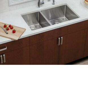 3160R-16 Double Bowl 3//4 Stainless Steel Sink