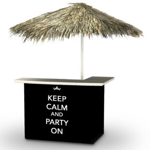 Keep Calm and Party On Tiki Bar Set