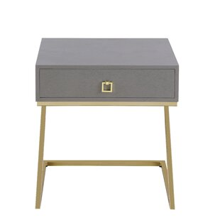 Flemings End Table with Storage by Everly Quinn
