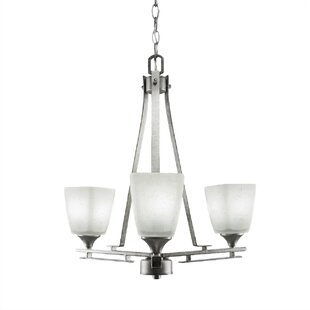 Mindi 3-Light Shaded Chandelier by Latitude Run