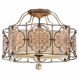 Lark Manor Villeroy 3-Light Semi Flush Mount