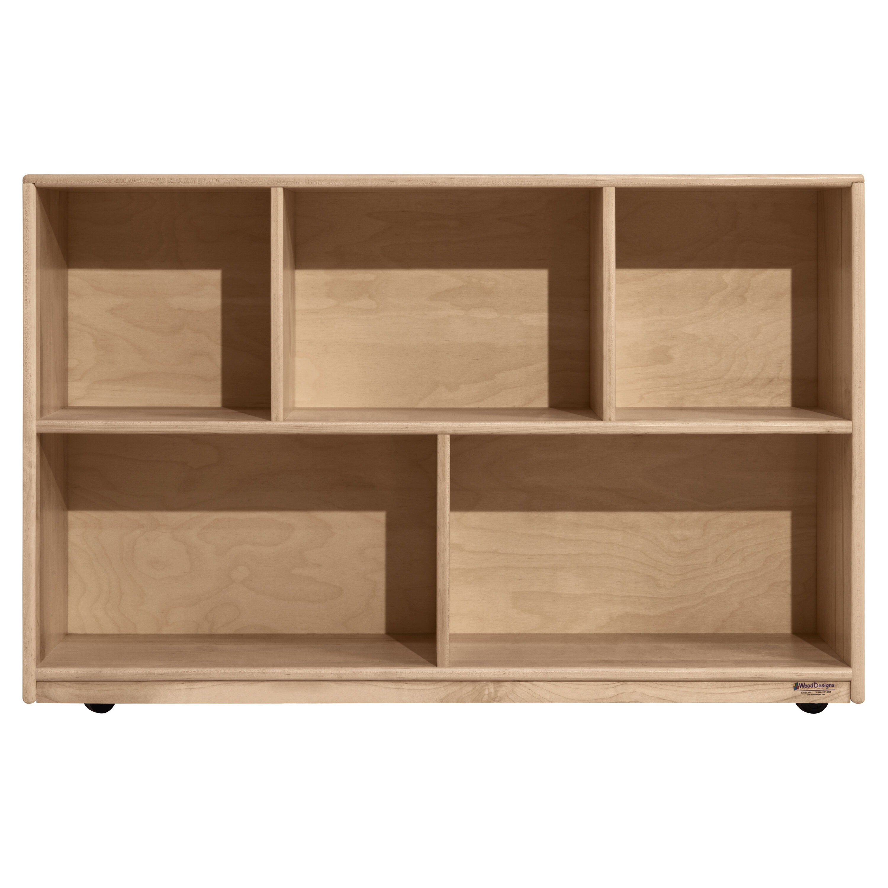 Wood Designs Maple Heritage 5 Compartment Shelving Unit With Casters Wayfair