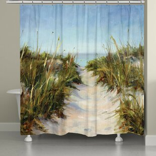 Best Review Dixon Sand Dunes Shower Curtain By Rosecliff Heights