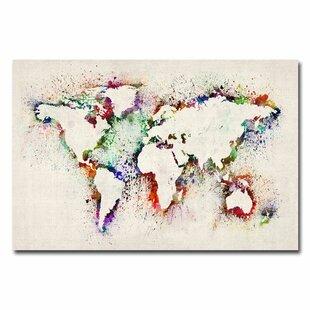 World Map Multi Panel Canvas | Wayfair