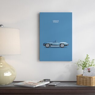 '1967 Chevrolet Corvette Stingray' Graphic Art Print on Canvas By East Urban Home