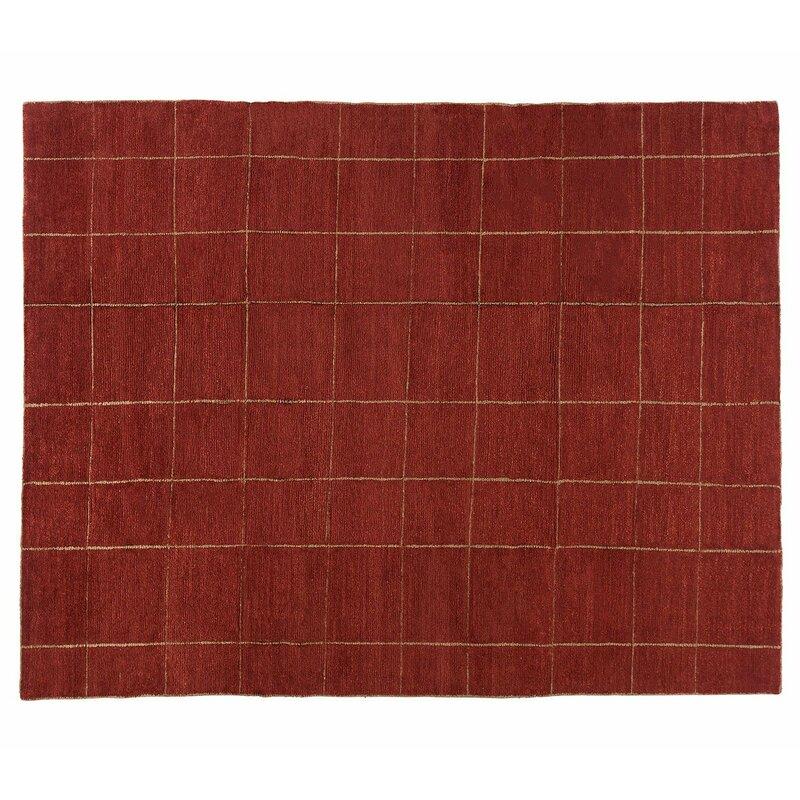 Tufenkian Geometric Hand Knotted Wool Red Area Rug Wayfair
