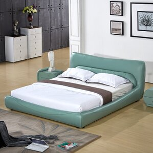 Upholstered Platform Bed by Container