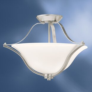 Avilla 2-Light Semi Flush Mount by Alcott Hill