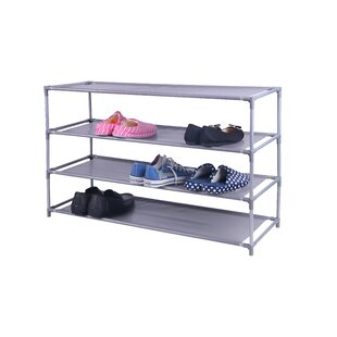 Reviews Non-Woven 20 Pair Shoe Rack By Home Basics