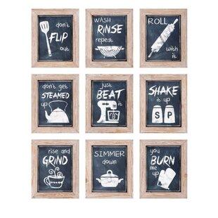 9 Piece Kitchen Inspirations Wall Decor