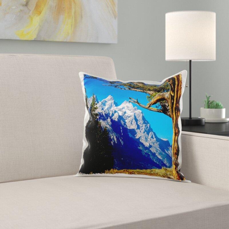 East Urban Home Wyoming Jackson Grand Teton Np Cathedral Group Pillow Cover Wayfair