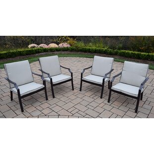 Stackable Deep Seating Chat Chair with Cushion (Set of 4)