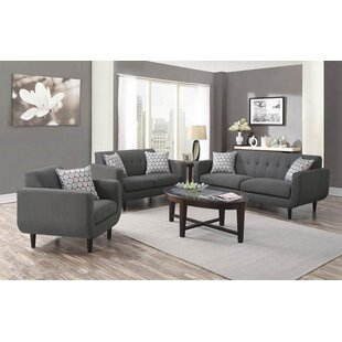 Ivy Bronx Avianna 3 Piece Living Room Set