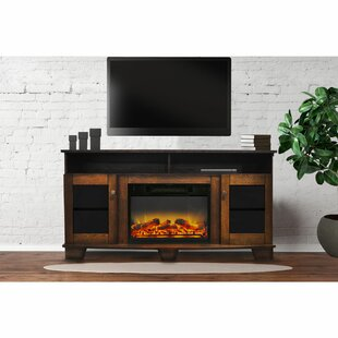 Ackermanville TV Stand for TVs up to 65 with Electric Fireplace Included by Red Barrel Studio
