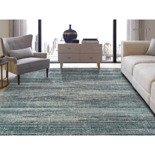 Bump Blue/Light Gray Indoor/Outdoor Area Rug